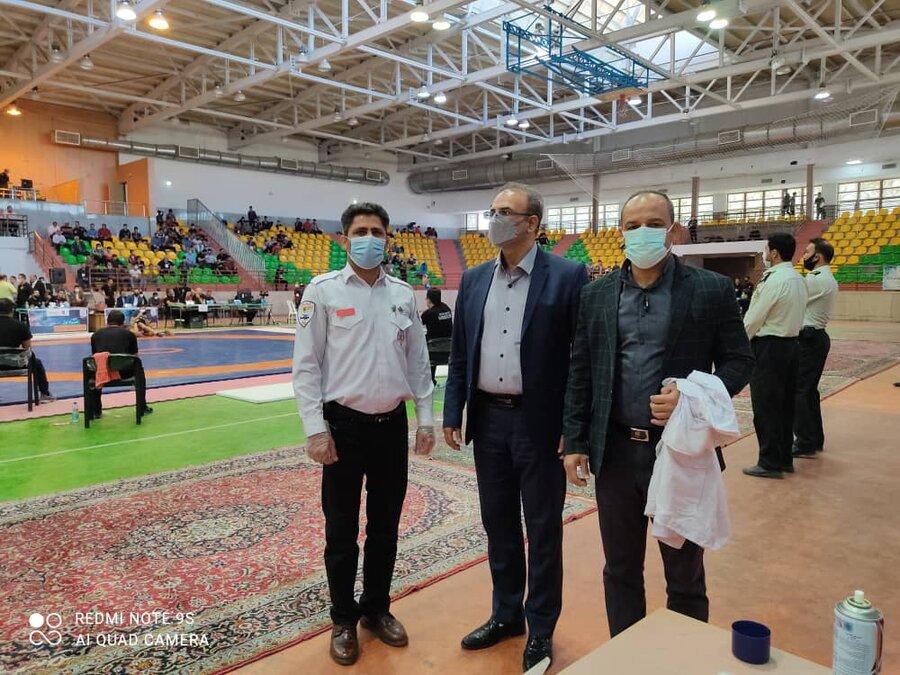 پوشش پزشکی مسابقات کشتی آزاد قهرمانی نونهالان کشور