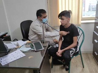 معاینات پزشکی دانش آموزان تربیت بدنی کرمان