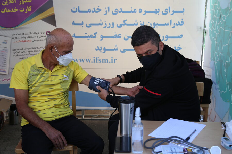 طرح سراسری ایستگاه تندرستی در هفته تربیت بدنی - مجموعه انقلاب(تهران)