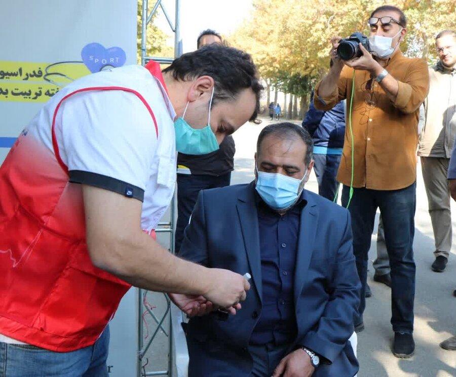 برپایی ایستگاه تندرستی فدراسیون پزشکی ورزشی در جشنواره ورزشی سلامت