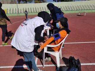 پوشش پزشکی مسابقات دو و میدانی قهرمانی نوجوانان و جوانان کشور